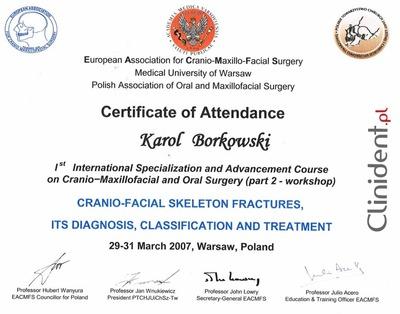 Kurs szczękowo-czaszkowy kurs chirurgii stomatologicznej