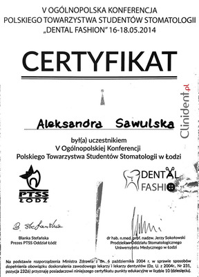 PTSS konferencja, DentalFashion
