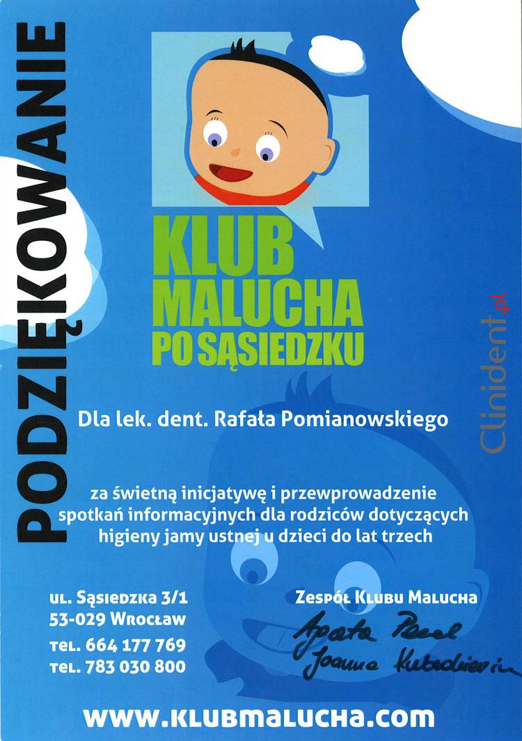 pedodonta, Klub Malucha, przedszkole, pedodoncja