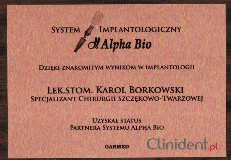 Implanty system Alpha Bio