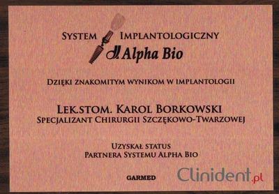 Implanty system Alpha Bio Wrocław
