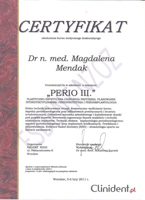 perioprotetyka, perioimplantologia, chirurgia Wrocław