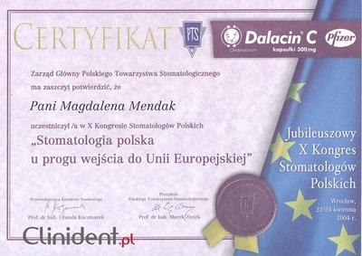 Stomatologia polska u progu wejścia do Unii Europejskiej