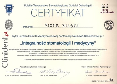 Integralność stomatologii i medycyny