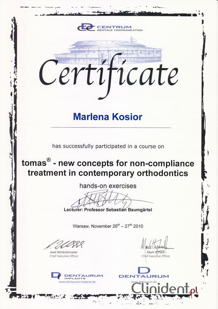 Mikroimplanty Tomas, system mikroimplantów