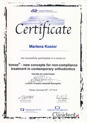 Mikroimplanty Tomas, system mikroimplantów Wrocław