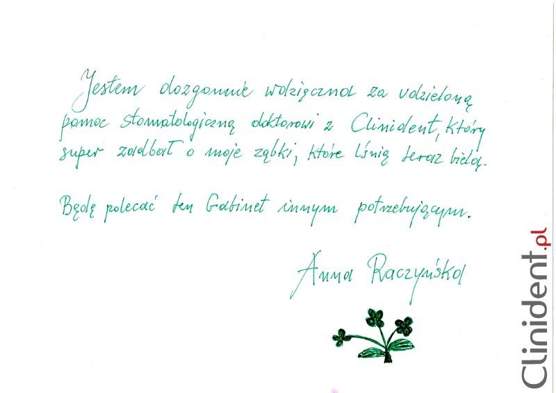 Opinia o Clinident od Anna Raczyńska