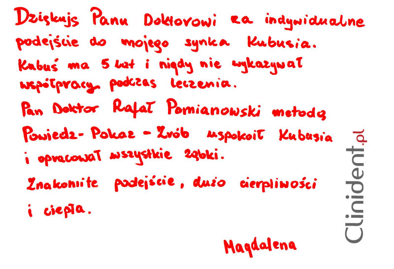 Opinia o Clinident od Magdalena