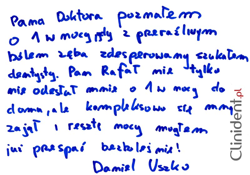 Opinia o Clinident od Daniel Uszko