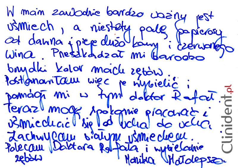 Opinia o Clinident od Monika Małolepsza