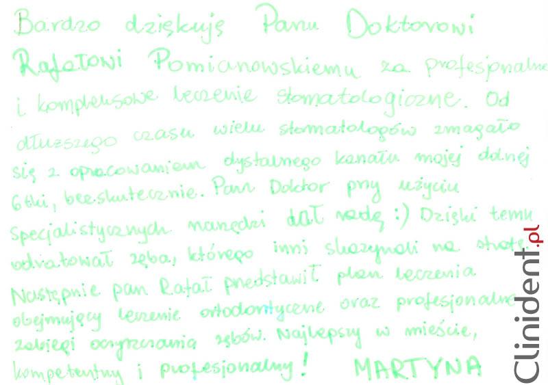 Opinia o Clinident od Martyna