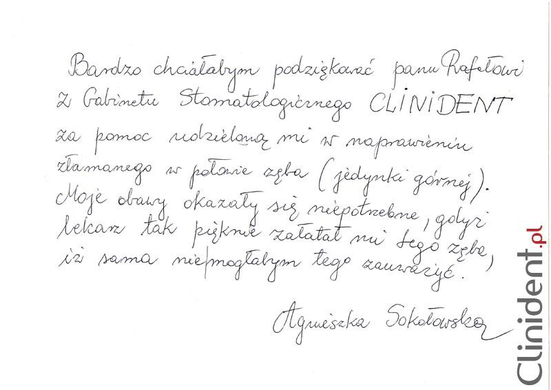 Opinia o Clinident od Agnieszka Sokołowska