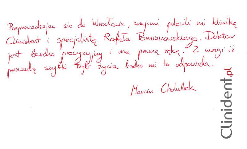 Opinia o Clinident od Marcin Cholubek