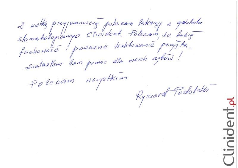 Opinia o Clinident od Ryszard Podolski