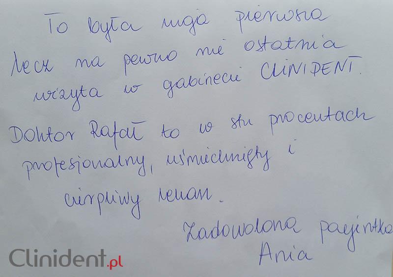 Opinia o Clinident od Ania Prochocka