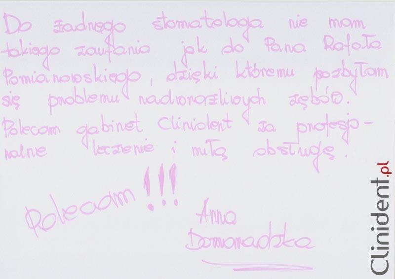 Opinia o Clinident od Anna Domaradzka