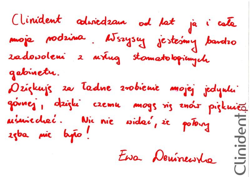 Opinia o Clinident od Ewa Deniszewska