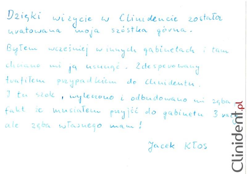 Opinia o Clinident od Jacek Kłos