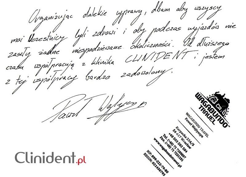 Opinia o Clinident od Paweł Wojtyszyn